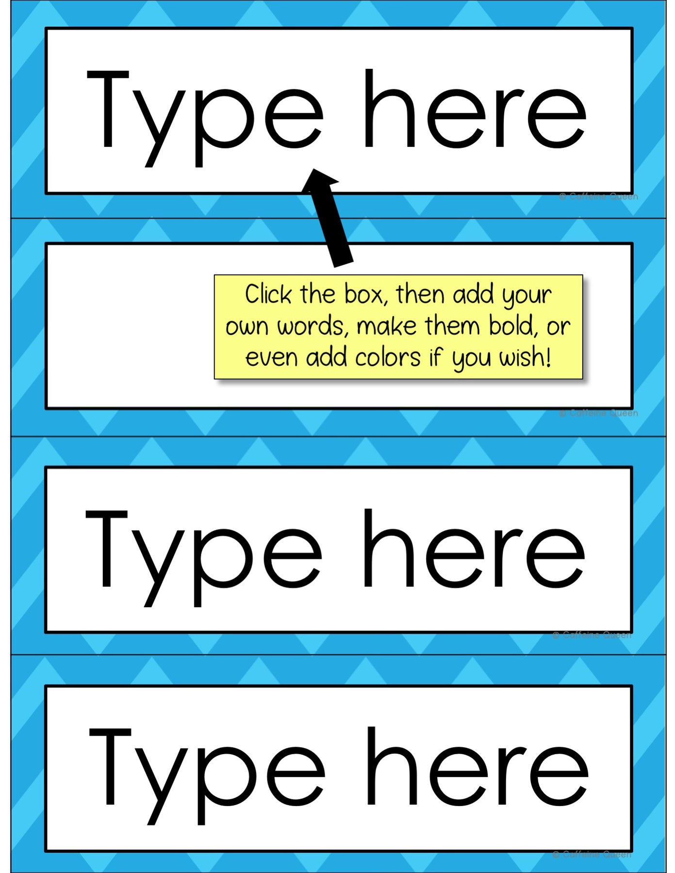 Easily edit the high frequency sight words included in this word wall resource