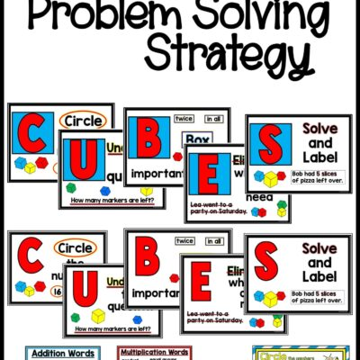 Struggling with math story problems? CUBES to the Rescue!