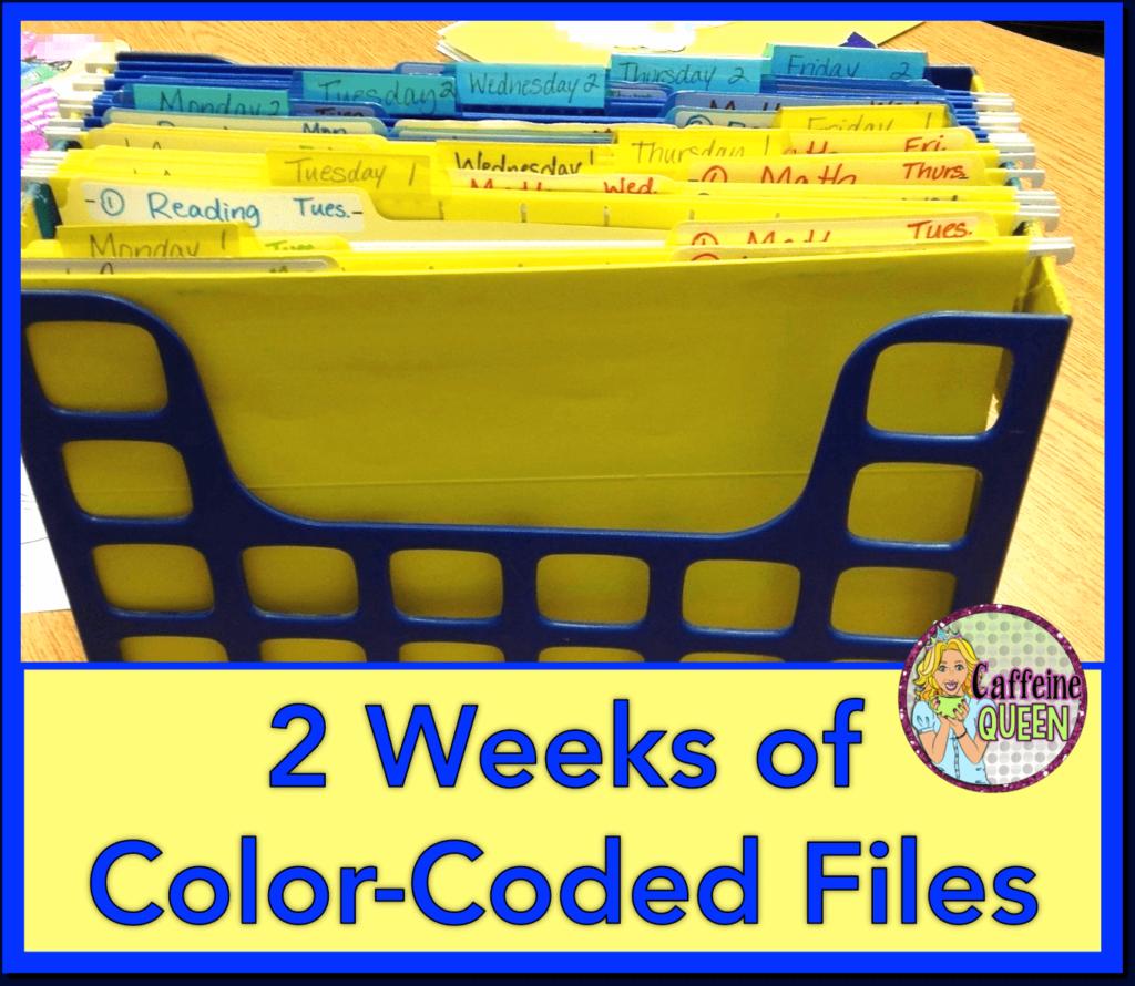 Organizing lesson plan files