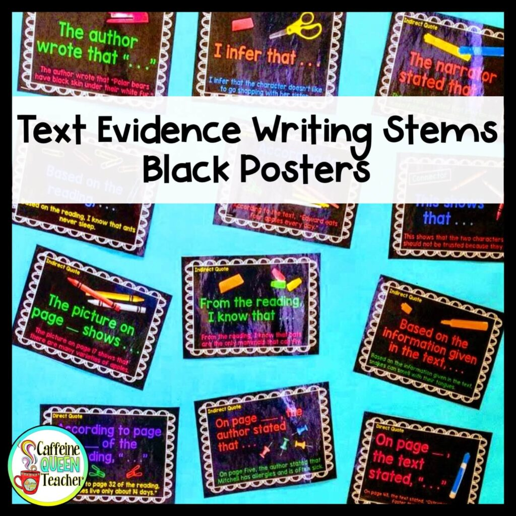 text-evidence-for-writing-responses