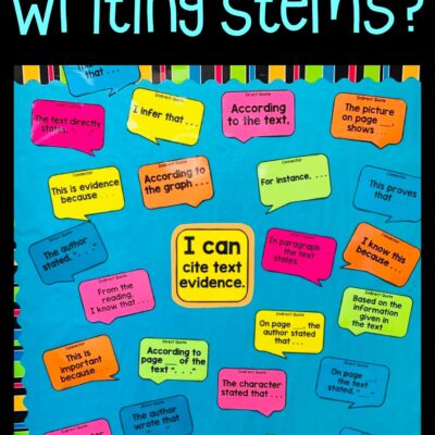 Prepare for Testing with Writing Stems