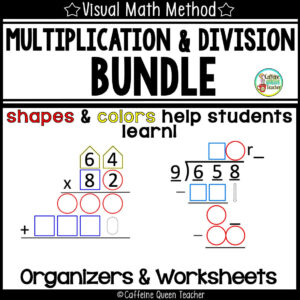 differentiated set of multiplication and division worksheets and organizers