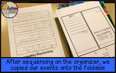sequencing graphic organizer keeps students focused on important events