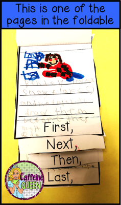 Sequencing important events helps students find the main idea