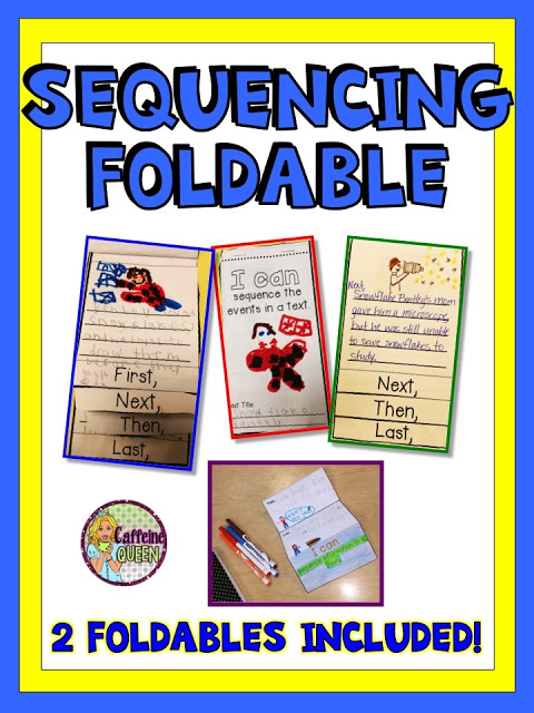 Foldables for elementary students to make in reading class