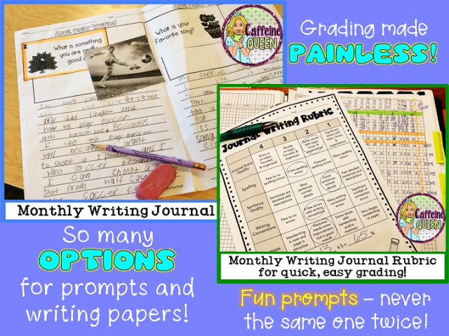 Engaging prompts - students will enjoy the variety of writing prompts
