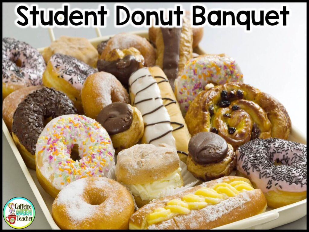 end of the year donut banquet award ceremony plate of donuts