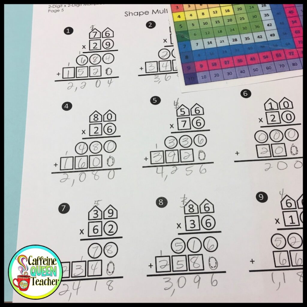 The best strategy for teaching multi-digit multiplication is using a visual organizer