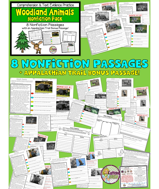 Finding text evidence reading skills in this complete teaching unit for elementary students