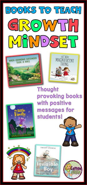 Growth Mindset books teach students the power of positive thinking and goal setting