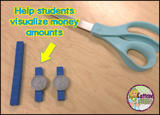 manipulatives and differentiation for money skills