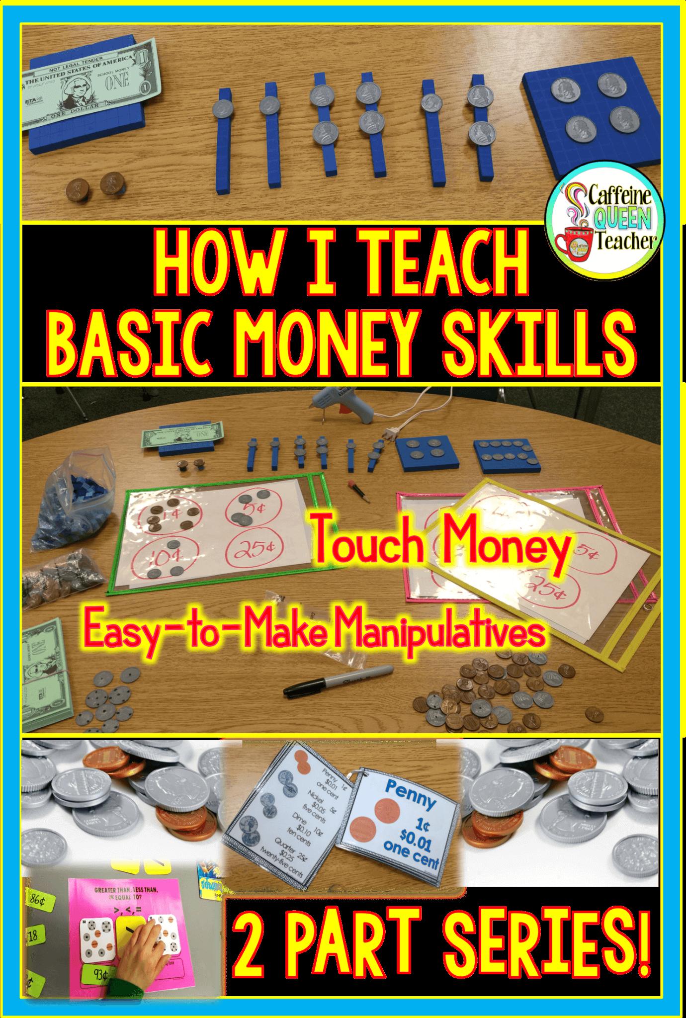 Teaching basic money skills to students