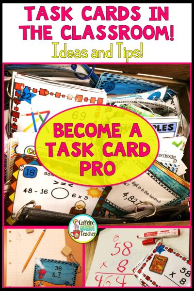 Task cards made easy for teachers!