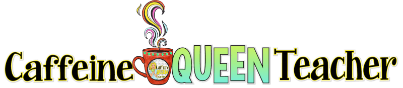 Caffeine Queen Teacher Logo