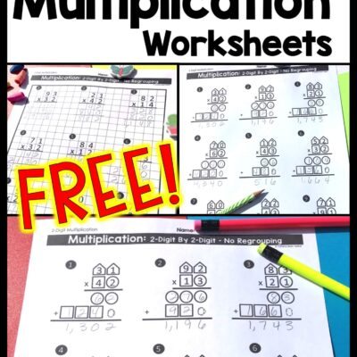 2-Digit Multiplication Worksheets: Differentiated