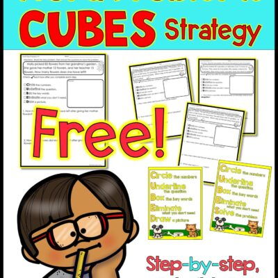 FREE Worksheet – Addition and Subtraction Word Problems Strategy
