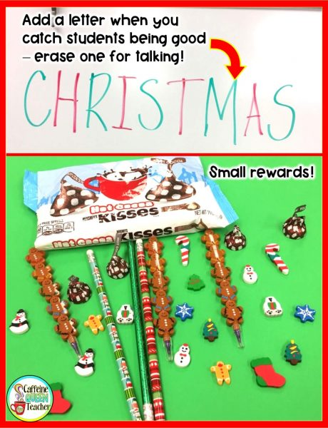 Small Christmas rewards and behavior plan idea